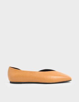 Charles & Keith Two-Tone Textured D'Orsay Flats