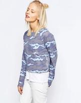 Reebok Lightweight Sweatshirt With All Over Camo Print