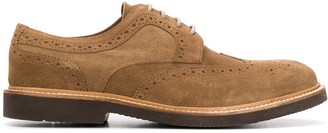 Eleventy perforated low-heel Oxford shoes