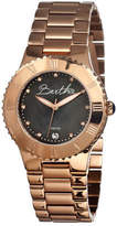 Mother of Pearl Women's Bertha Millicent BR2706 - Rose Gold Steel/Black Watches