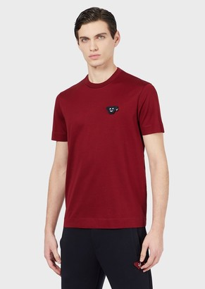Emporio Armani Jersey T-Shirt With Removable Emoji Patch