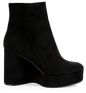 Clergerie Women's Belen2 Platform Suede Ankle Boots