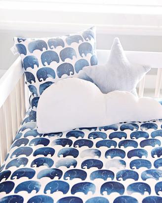 Oilo Studio Elephant Jersey Standard Crib Sheet, 2 Pack