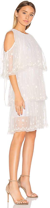 Needle & Thread Embroidered Tulle Dress