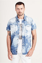 True Religion Triple Needle Western Mens Shirt