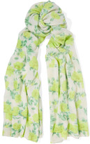 Autumn Cashmere Printed cashmere scarf