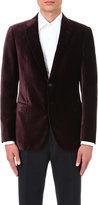 Armani Collezioni Honeycomb-pattern Velvet Jacket