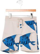 Mini Rodini Boys' Fish Print Shorts