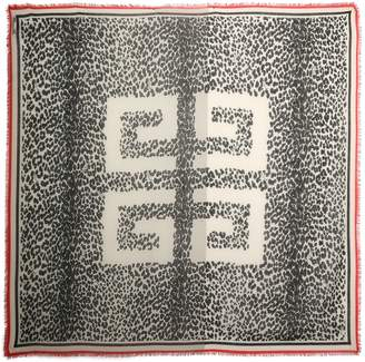 Givenchy Frayed Printed Cashmere Scarf