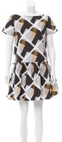 Suno Geometric Print Mini Dress