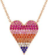 Sabrina Designs 14K Rose Gold 0.51 Ct. Tw. Sapphire Heart Necklace