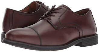 Johnston & Murphy Waterproof XC4(r) Hollis Cap Toe Dress Casual Oxford (Oak Waterproof Full Grain) Men's Plain Toe Shoes