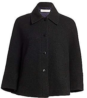 See by Chloe Women's Three-Quarter Sleeve Wool Blend Coat