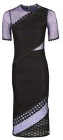 Topshop Honeycomb Airtex Midi Dress