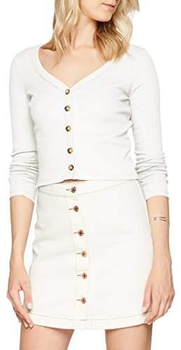 New Look Women's 5873276 Cardigan, (White 12), (Size:14)