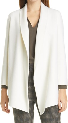 Theory Clairene Luxe Shawl Collar Coat
