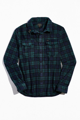 Dark Seas Plaid Button-Down Shirt