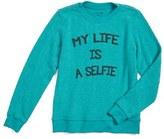 Joe's Jeans Girl's Selfie Life Graphic Sweatshirt