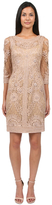 Sue Wong N0507S Mini Dress In Taupe