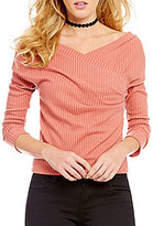 GB Ribbed Off The Shoulder Sweater