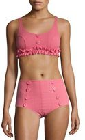 Lisa Marie Fernandez Two-PIece Colby Ruffle Button Bikini