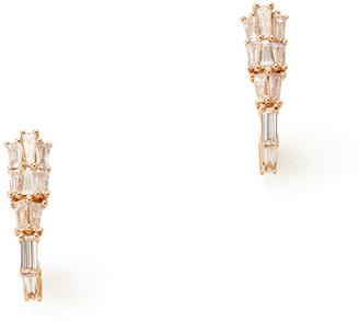 Rosegold Nak Armstrong Rose-Gold Diamond Earring Clips