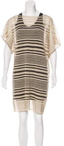 Calvin Klein Collection Pleated Mini Dress