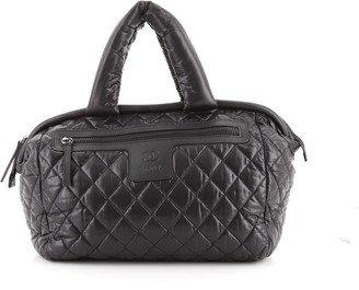 Chanel Coco Cocoon Bowling Bag Quilted Nylon Medium