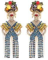Elizabeth Cole 'Chiquita' Swarovski crystal woman drop earrings