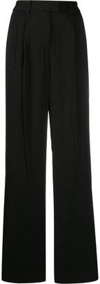 MICHAEL Michael Kors Flared Logo Jacquard Trousers
