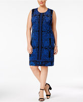 JM Collection Plus Size Printed Sheath Dress, Created for Macy's
