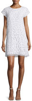 Joie Tabbetha Crocheted Cap-Sleeve Dress