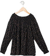 Bonpoint Girls' Off-The-Shoulder Polka Dot Top w/ Tags