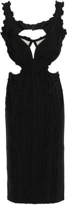 Herve Leger Nakita Ruffle-trimmed Cutout Bandage Dress