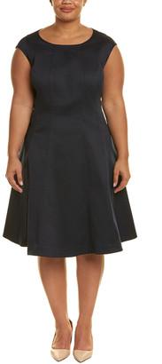 Lafayette 148 New York Plus Bev A-Line Dress