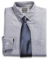Rochester Non-Iron Textured Check Dress Shirt Casual Male XL Big & Tall