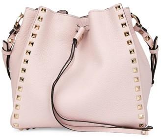 Valentino Small Rockstud Leather Bucket Bag