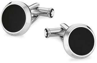 Montblanc Meisterstuck Stainless Steel & Black Onyx Cufflinks