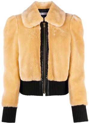 Philosophy di Lorenzo Serafini Shearling-Effect Fitted Jacket