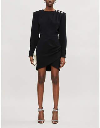 BA&SH Sloane crepe mini dress