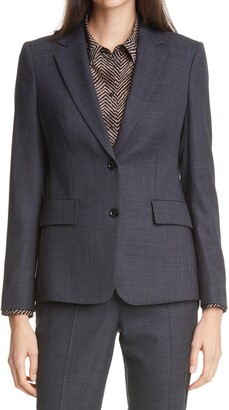 HUGO BOSS Jabielle Stretch Wool Suit Jacket