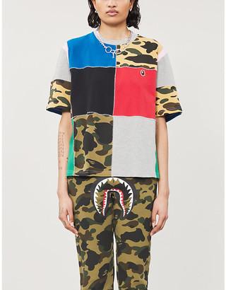 BAPE Patchwork cotton-pique T-shirt