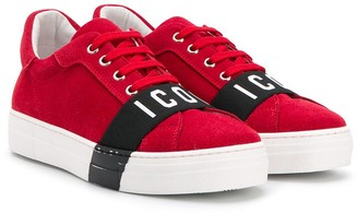 DSQUARED2 Icon print low top sneakers