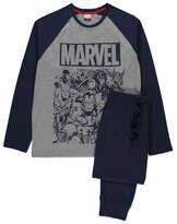 George Marvel Comics Navy Long Sleeve Pyjamas