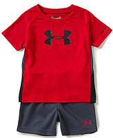 Under Armour Baby Boys 12-24 Months Tilt Shift Sportster Color Block Tee & Solid Shorts Set
