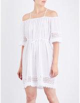 Seafolly Casablanca cold shoulder cotton-gauze dress
