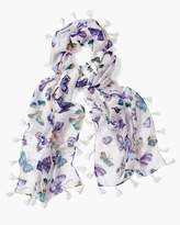 Butterfly-Print Scarf