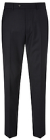 John Lewis Regular Fit Sharkskin Suit Trousers, Navy