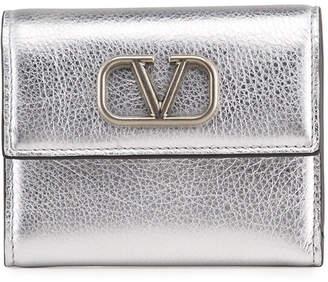 Valentino Garavani VSLING Mini Vitello Laminato Trifold Wallet