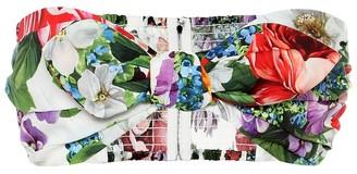 Dolce & Gabbana Floral cotton bustier